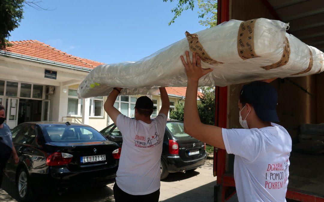 Донација душека и постељине Медицинској школи у Лесковцу