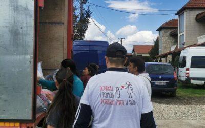 Испорука хуманитарне помоћи породицама ромске националности