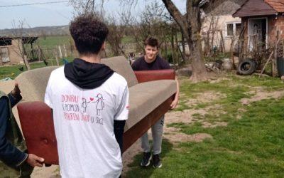 Испорука хуманитарне помоћи у Великом Трњану, Брзи, В. Грабовници и Губеревцу