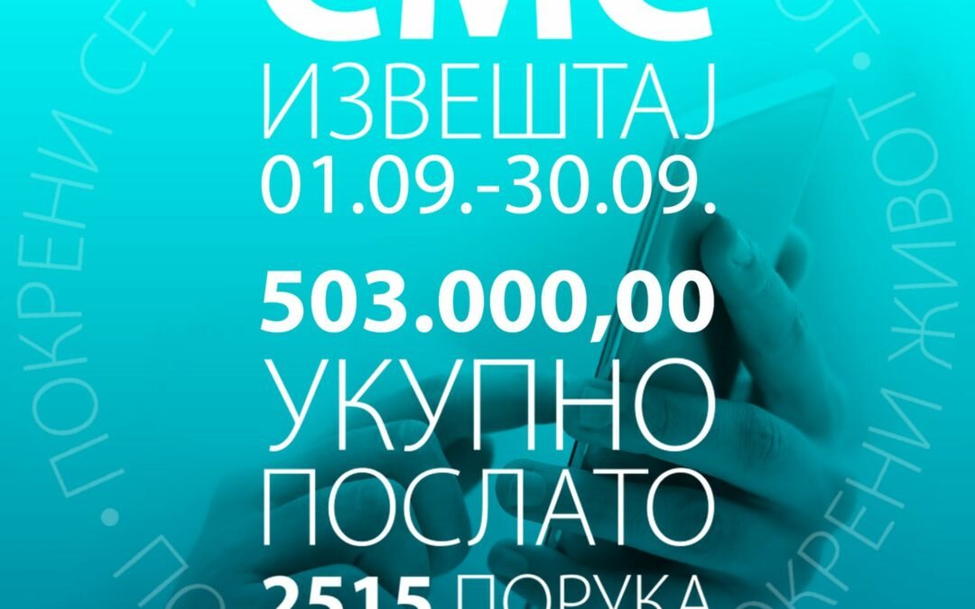 Месечни СМС извештај за септембар 2021